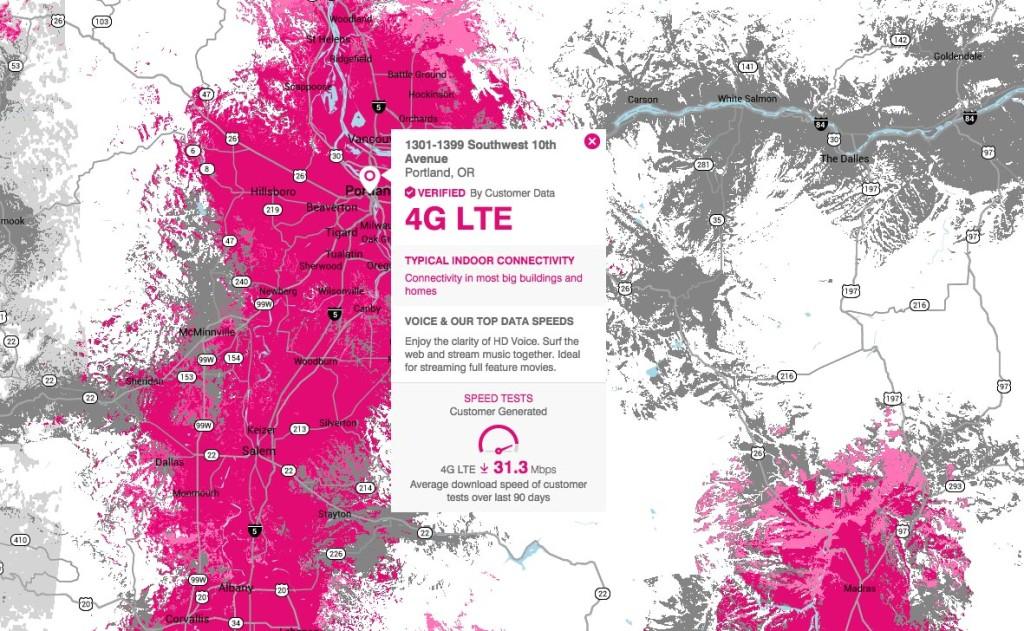 T-Mobile couverture