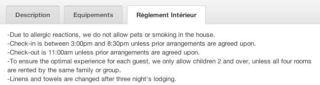 Airbnb règlement
