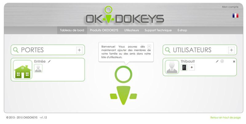 Okidokeys - Portail